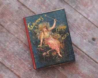 Dollhouse Miniature Book --- Grimm's Fairy Tales