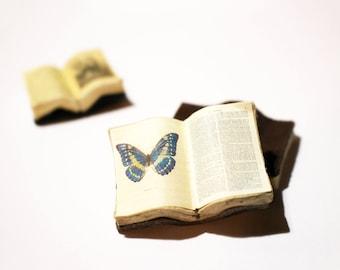 Miniature Open Book --- Butterfly