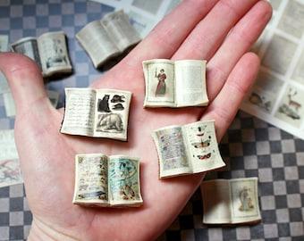 Miniature Open Book DIY Kit & Tutorial --- Makes 80 Books
