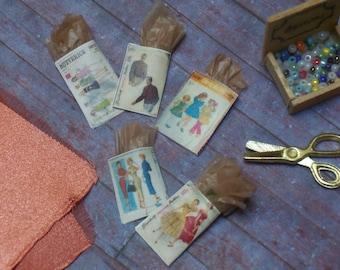 Miniature Vintage Sewing Patterns