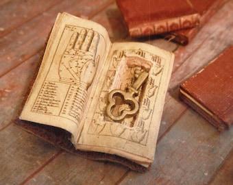 Dollhouse Miniature Book with Secret Compartment & Skeleton Key