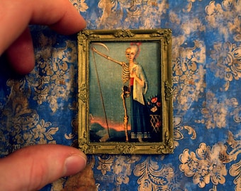 Framed Miniature Painting - Death Becomes Her