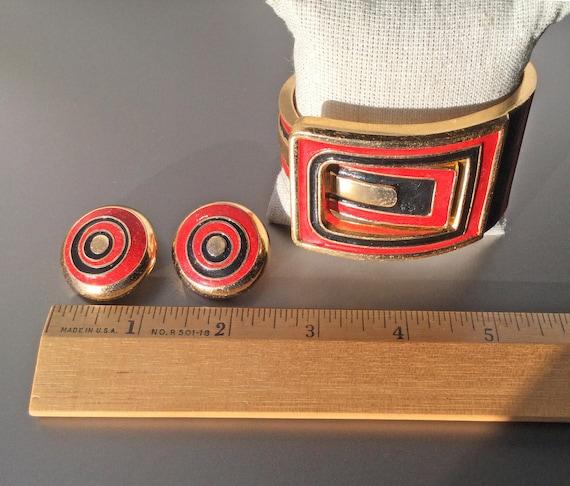 RARE Lanvin Paris Vintage Clamper Cuff Bracelet a… - image 5