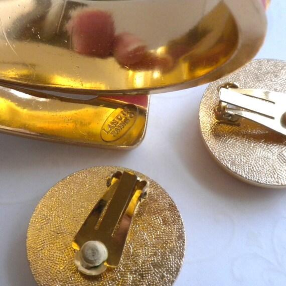 RARE Lanvin Paris Vintage Clamper Cuff Bracelet a… - image 8
