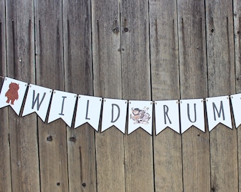 Where the Wild Things are - WILD RUMPUS Banner