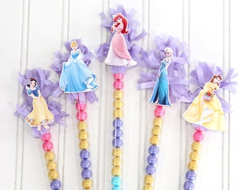 Princess Candy Favors - Set of 10 - Princess birthday party, Candy tubes