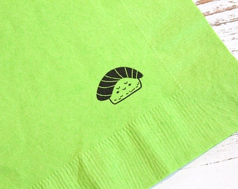 - 3 ply 14 fold Luncheon napkins Set of 25 5 of each design Sushi Party Napkins