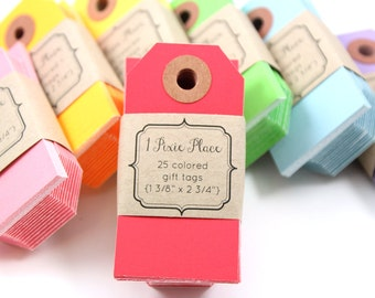 Manila Gift Tags - Set of 25 - Choose your color