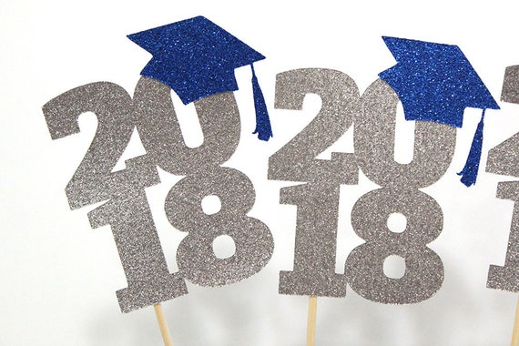 class of 2018 centerpiece sticks set of 3 customized to etsy