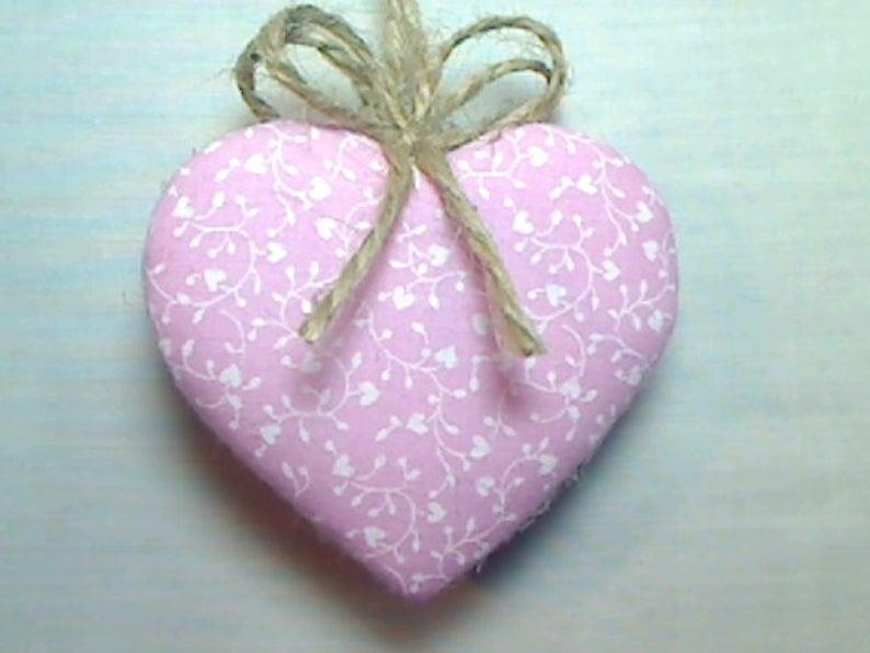Party Favor Valentine/'s Day #2 Pink Heart Ornament Heart Decor Handmade Gift Tree Ornament  Wedding Bridal Valentine Ornament