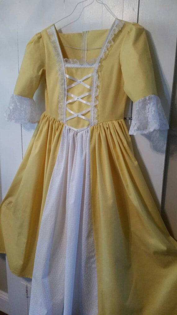 Girls dress Betsy Ross inspired colonial gown custom made to   Etsy