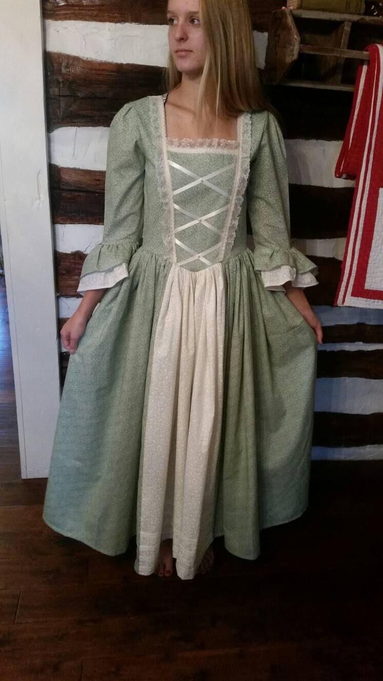 Custom Child Girl Williamsburg Colonial Dress Costume Size 3