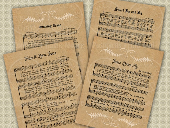 picture about Printable Hymns named Clic Hymns Significant Printable Dangle Tags / Hymnal / Christian Tune Sheets - 4.2 x 3.36 Inch Tags, Down load and Print Electronic Collage Sheet