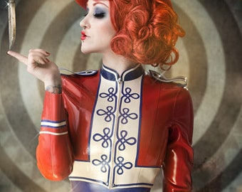 b22ca38423 Lady Lucie Latex Marching Band Jacket