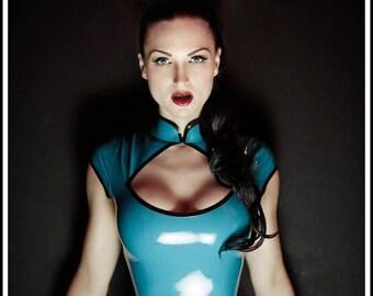 9c4fcf4fb1 Lady Lucie Latex Cheongsam Latex Bodysuit