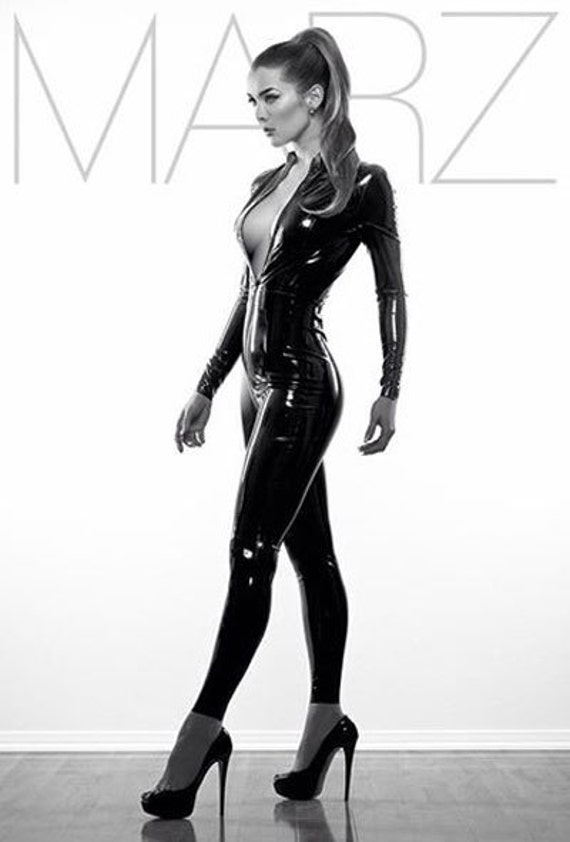 Lady Lucie Latex Classic Catsuit Etsy