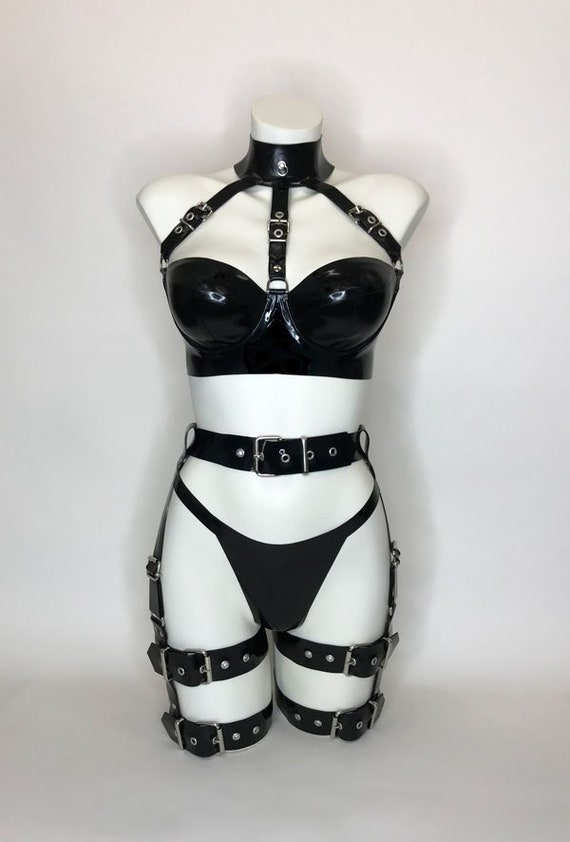 8a016919db Lady Lucie Latex Belt Up Bondage Set