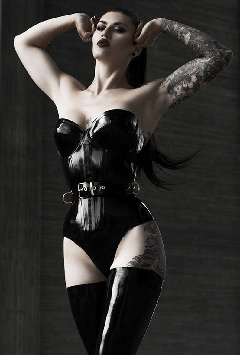 1a40d62865 Lady Lucie Latex Cupped Corset