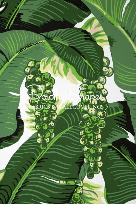 Brazilliance Wallpaper Dorothy Draper As Seen In The Greenbrier Resort Palm Leaf Banana Leaf Wallpaper We Are The 1 Seller