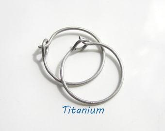 Custom made for you Small Size Titanium Earrings Titanium Hoop Earrings Nickel Free For Sensitive Ear Lobe