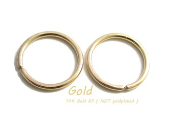 Custom made for you Small Size Gold Earrings Little Tiny Rings Nickel Free For Sensitive Ear, A Pair (you get 2 small hoop earrings)
