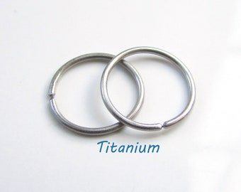 Custom made for you Small Size Titanium Earrings Little Tiny Rings Nickel Free For Sensitive Ear, A Pair (you get 2 small hoop earrings)