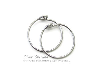Custom made for you Small Size Silver Earrings Silver Hoop Earrings Nickel Free, Choose Size