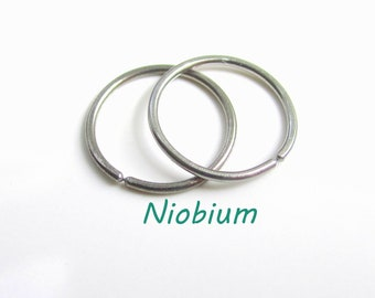 Custom made for you Small Size Niobium Earrings Little Tiny Rings Nickel Free For Sensitive Ear, A Pair (you get 2 small hoop earrings)