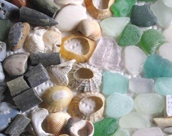 91 Surf Tumbled Assorted Fragments Art Mosaic Craft Supplies (1908)