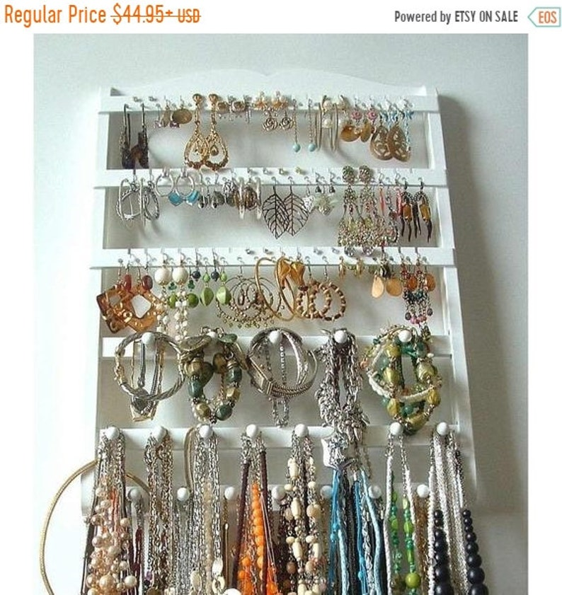 Honey Double Metal Jewelry Frame Earrings Necklace Bracelet Display Stand Sales Of Quality Assurance Home & Garden