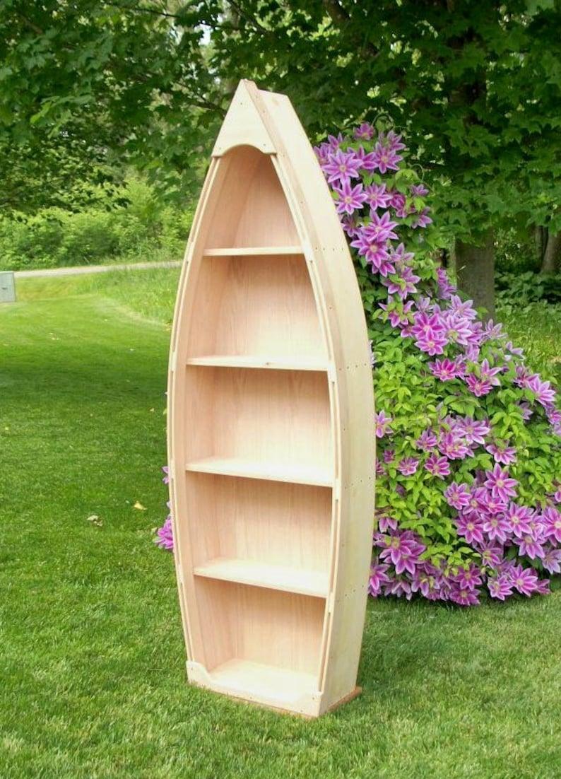 6 Ft Unfinished Row Boat Shelf Bookshelf 12 14 Weeks To Start Building Bookcase Hand Crafted Canoe Nautical