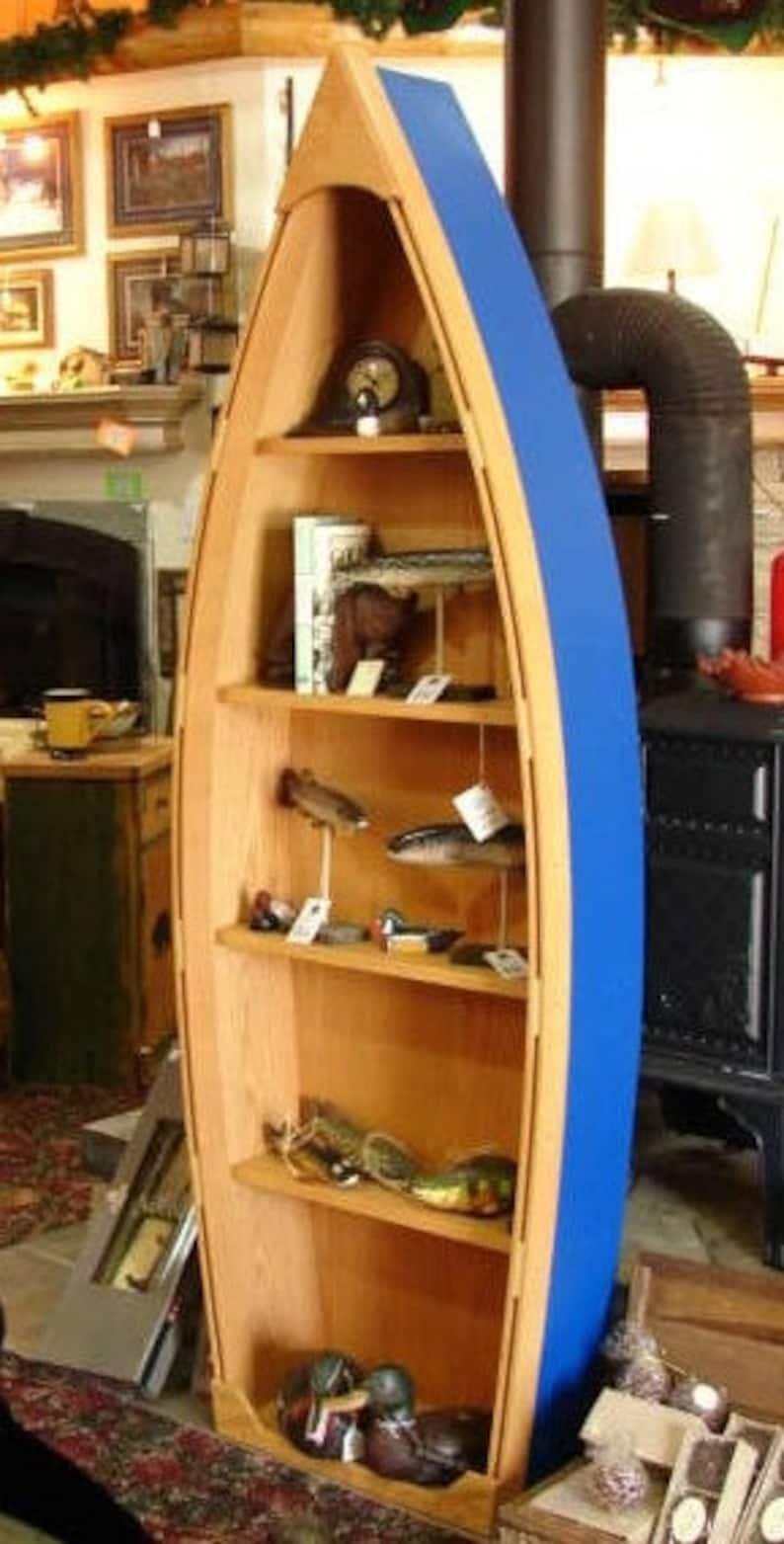 6 Foot Handcrafted 12 14 Weeks To Start Building Wood Row Boat Shelf Bookshelf Bookcase Nautical