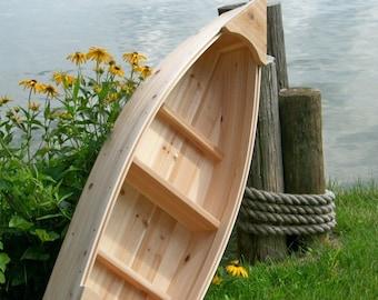 unfinished 4 foot, Nautical, outdoor, canoe, landscape cedar boat garden box planter, lawn, yard, ornament, wedding raw bar