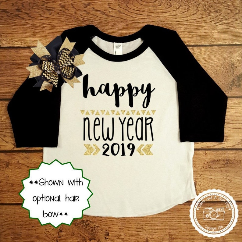 763def15bdb New Years Eve Outfit Gold Glitter Infant Toddler Child Shirt