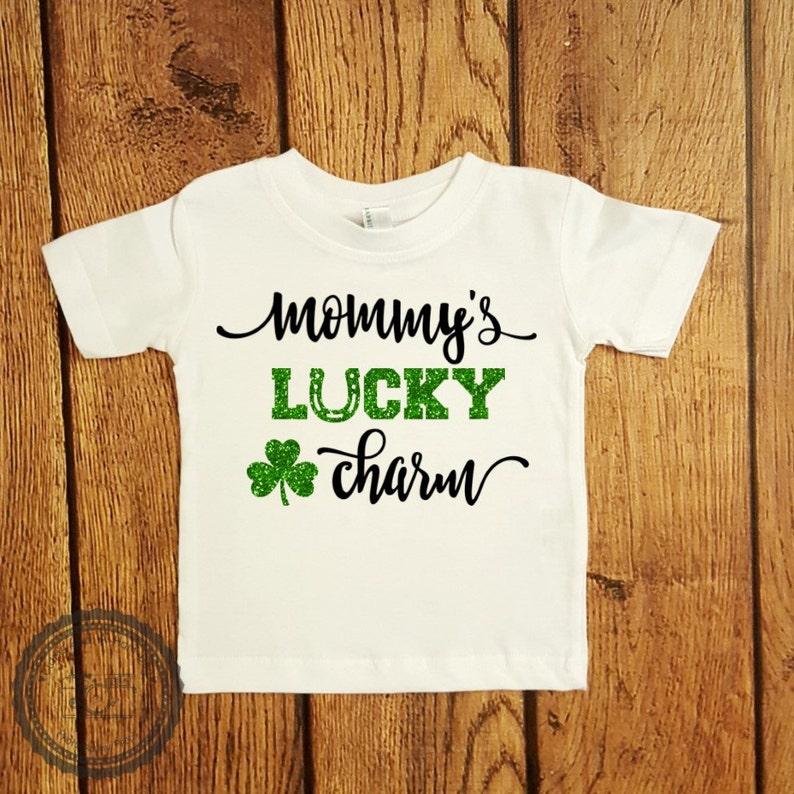 8344da94 St Patricks Day Shirt Mommys Lucky Charm Baby First St | Etsy