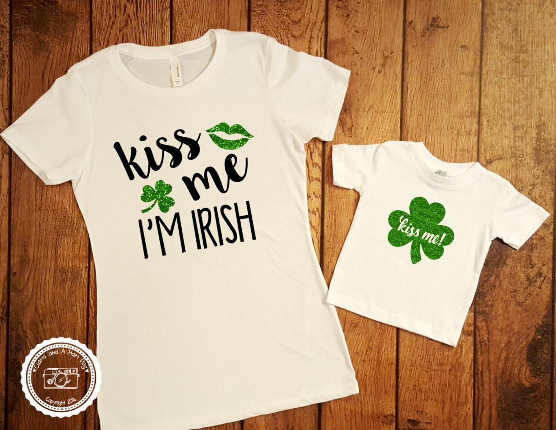d8c8905e387 St Patricks Day Family Matching Shirt Kiss Me I'm Irish | Etsy