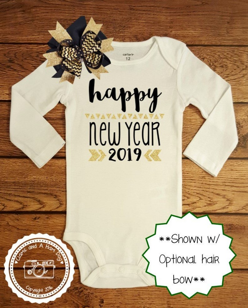 ddc538843a3 New Years Eve Outfit Baby Infant Toddler Kids Shirt Happy | Etsy