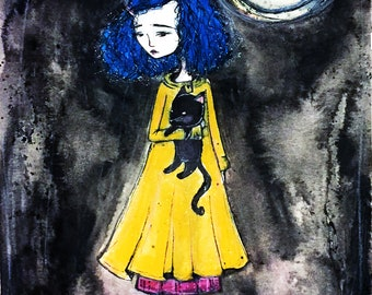 Limited edition print run 'Coraline' 8.5x11- Limited to 50 total- numbered and signed by Jessica von Braun