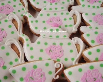 Fancy tea party cookies 1 dozen