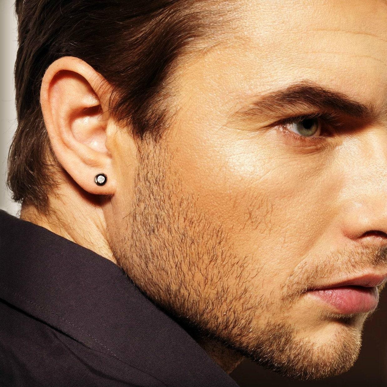 Real Diamond Stud Earrings For Men Mens Diamond Studs