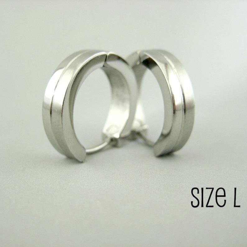 078b6a517 Men's hoop earrings double stacked hoop earrings for men | Etsy