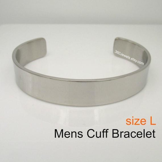 Cuff Bangle Bracelet For Men Silver Stainless Steel Bracelet Etsy