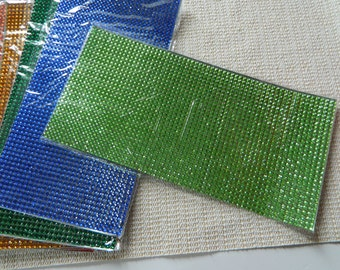 Faux Rhinestone Sticker solid color sheet: Ready to cut peel and stick to any creation (1) 5.25 x 10.5 inch sheet