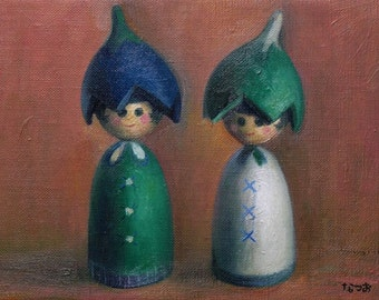 Original oil painting - Twins