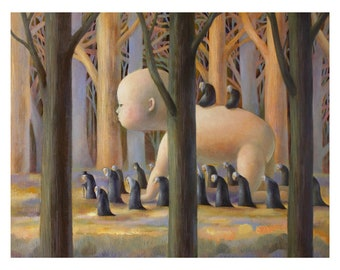 Limited Edition Print 14 x 11 - Forest in February 22/50
