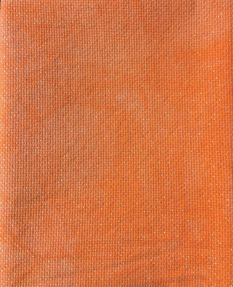 Hand Dyed Sparkly AidaL  18 Count Aida  Cross Stitch Fabric  Lurex Fabric   Hand Dyed Aida  Embroidery Fabric  Hand Dyed Cross Stitch Fabric