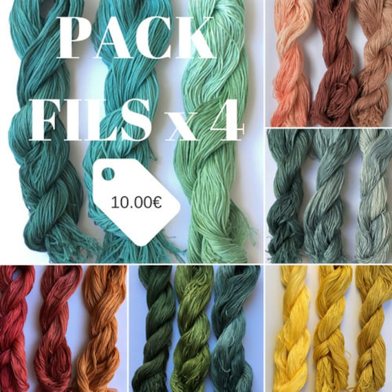 Le Fil Atalie Over dyed thread Cross stitch threads Blackwork.Variegated Floss Indie Dyed Stitching Floss Thread Pack Hand dyed Floss