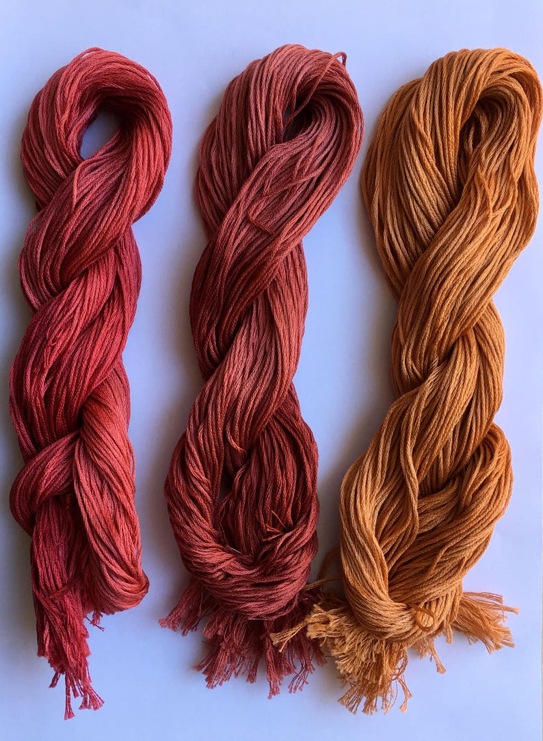 Sichuan Indie Dyed Stitching Floss Le Fil Atalie Hand dyed Floss Over dyed thread Cross stitch threads Blackwork Variegated Floss