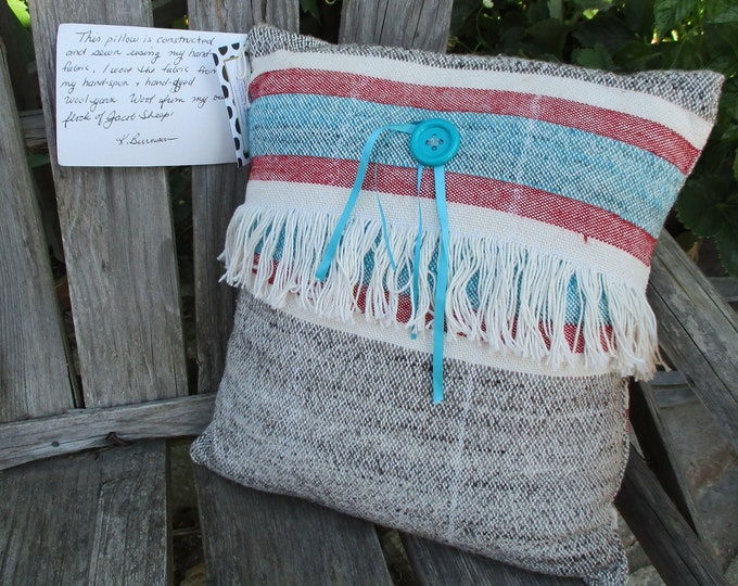 Pillow of Handwoven Fabric