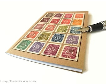 Portugal Travel Notebook - muted rainbow of Caravel definitives